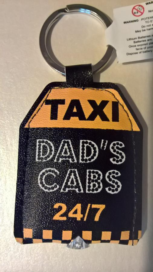 Light up keyring dad's taxi