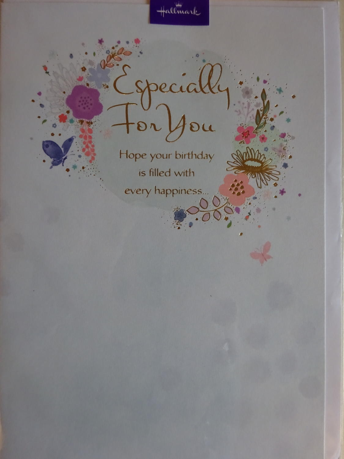 Especially for you birthday card