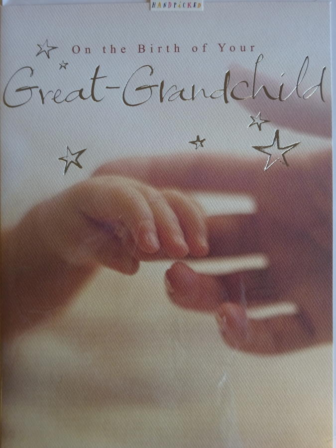 New great grandchild card