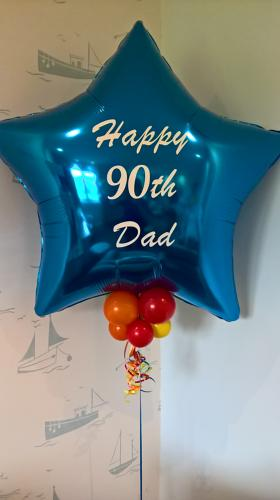 Personalised giant foil balloon
