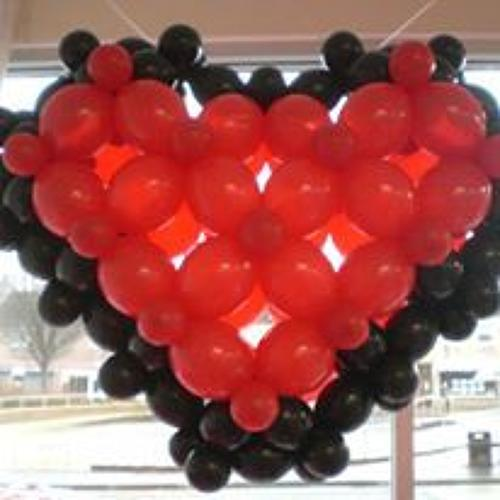 Puffed balloon heart